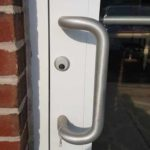 Replacing mortise cylinder in a business