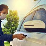 Unlocking car door wearing mask